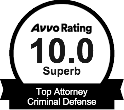 Avvo 10.0 Superb Rating - Top Attorney Criminal Defense